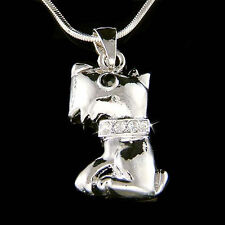w Swarovski Crystal WESTIE SCOTTISH Scottie DOG Puppy Pendant Charm Necklace New