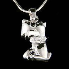 w Swarovski Crystal WESTIE SCOTTISH Scottie DOG Puppy Pendant Charm Necklace New