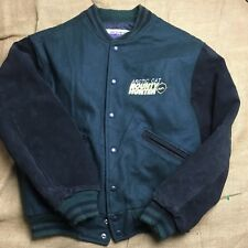 Vintage ARCTIC CAT Wool Leather Jacket 90s Snowmobiles Arctic Wear Size Small