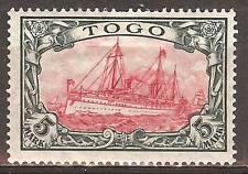 1919 German colonies Togo 5 Mark Yacht issue mint*, Mi 23 II A , € 220.00