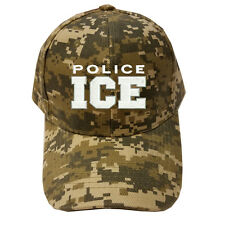 DIGITAL CAMO CAMOUFLAGE POLICE ICE Immigration and Customs Enforcement Cap Hat