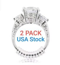 FREE SHIPPING... 2-Pack Invisible Ring Sizers Reducer Adjuster Snuggies Resizer