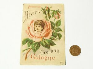 Antique Hoyt's German Cologne Pictorial Advertising Trade Card for Perfumes etc.