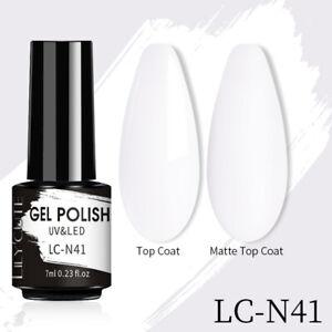 LILYCUTE Soak Off UV Gel Nail Polish Base Top Coat Glitter Sequins Nail Art 7ml