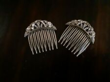Vintage Hair Combs, Set Of 2 some missing stones.