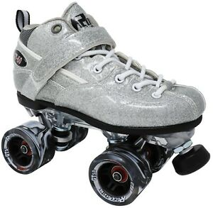 New! Silver Rock GT-50 Glitter Quad Roller Speed Skates