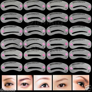 Eyebrow Smokey Cat Winged Eyeliner Eye Stencil Shaping Template Draw Guide Card