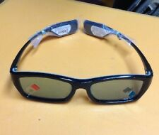 1 Pair Durable Long Lasting Samsung Rechargeable 3D Active Glasses, Black