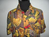 vintage 80s Viskose Hemd crazy pattern Freizeithemd 80er Jahre gemustert XL