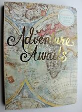 *MOLLY & REX Soft Cover Gold Foil Journal ~Travel Diary ~ Map ~ Adventure Awaits