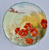 Vintage Royal Doulton POPPIES IN A CORNFIELD Dinner Plate/Display 26.1cm D6312