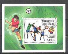 Football Cote d'ivoire (60) bloc oblitéré