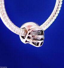Football Helmet Super Bowl Sports Fan Silver European Charm Bead fit bracelet