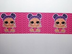 """""""SALE"""" BABY DOLL RIBBON - Wide Grosgrain Ribbon -75 mm x 4 Meters for £2.49"""
