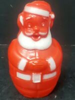 Vtg Christmas Soft Plastic Santa Chubby Candy Container w plug Germany?
