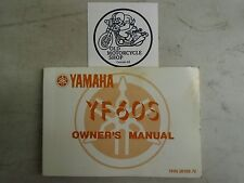 OEM 1985 Yamaha YF60S Owner's Manual French/English P/N 1HN-28199-70