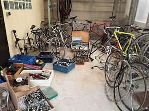 lot de vélos course vintage pour pièces cyclisme