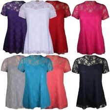 Plus Size Evening, Occasion Floral Short Sleeve Tops & Blouses for Women