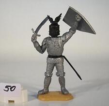 Timpo Toys silbener Ritter mit Schwert stehend