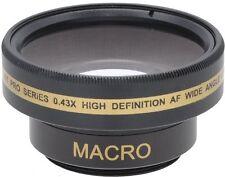 Pro HD Gran Angular con Macro Objetivo para Sony dcr-sr37e dcr-sr38e