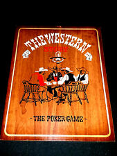 QUADRO ARREDO TAVOLA WOOD THE WESTERN STORY THE POKER GAME AMERICAN COLLECTION💎
