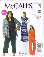 Shrug Mock Wrap Dress Jumpsuit Belt Khaliah Ali Sewing Pattern Plus 18 20 22 24