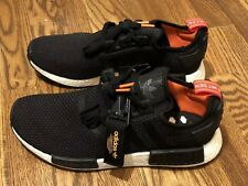 ADIDAS NMD R1 CORE BLACK/SOLAR ORANGE B37621 US MENS SZ 4-12