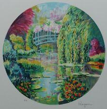 RAGARU Alain : Mare de Monet à Giverny - LITHOGRAPHIE originale signée