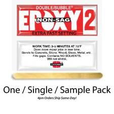 Hardman Double Bubble Red Non-Sag Epoxy2 Gel 3-5 Min-#04008 Single-Pack