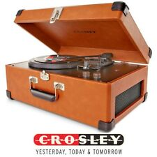 Crosley CR6249A-TA Keepsake Portable USB Turntable Vinyl Record Player - TAN