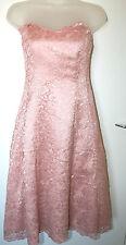 Debenhams Debut UK8 EU36 new pink lace prom dress with boned bodice