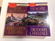 Anne McCaffrey Audiobook Cassette Lot of 2 Freedoms Challenge Freedoms Landing