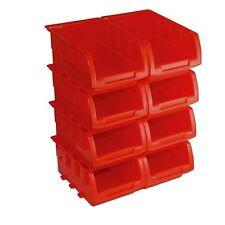 Nuevo Conjunto de Cajas de Apilamiento 8PCE 165 X 195 X 75 mm herramienta almacenamiento garaje P302