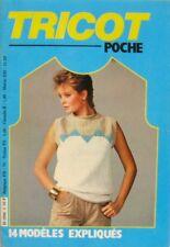 Tricot Poche- 14 modèles expliqués  vintage des années 80 - Printemps