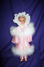 "Handmade 18"" doll clothes PINK SNOW ANGEL dress & robe Crissy American Girl"