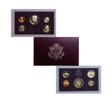 1985 S 5 Coin Proof Set Original Packaging Smokiness/Toned Used Box