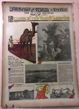 New listing Feb 8, 1914 Newspaper Pg #Lj7475- Reclaiming The Desert Of The Garden Of Eden