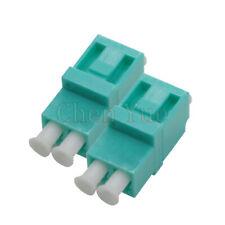 50pcs Fiber LC UPC MM OM3 Duplex Ordinary Adapter Optical Fiber Connector Flange