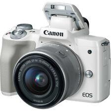 CanonM50 Mirrorless Digital Camera w/15-45mm Lens (White) 3 Yr Warranty! Extras!