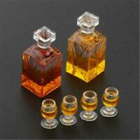 Dollhouse Miniature Accessories Whiskey Wine Bottle Bar Model Scale 1:12 _ AU