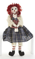 """New Primitive Country Americana RAGGEDY ANN DOLL With CAT 17"""""""