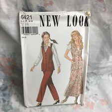 New Look 6421 Office vest, skirt, pants, vintage UNCUT sewing Pattern size 8-18
