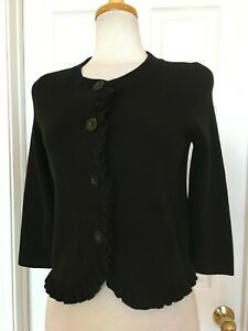 ANN TAYLOR black cardigan sweater size MP