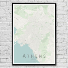 ATHENS Map Print, Greece Wall Art Poster City Map Wall Decor A3 A2 A1