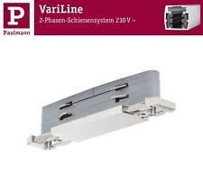 Paulmann VariLine Direct Connector für 2 Phasen Schienen Alu gebürstet 2x2000W