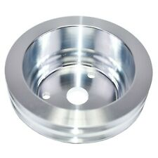 Chevy Small Block Long Water Pump Double Groove Aluminum Crankshaft Pulley Sbc