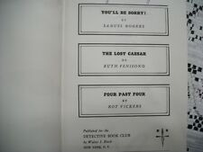The Detective Book Club - You'll Be Sorry, The Lost Caeser, Four Past Four