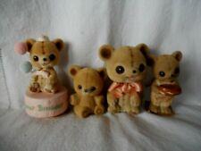 Josef / Good Japan Group Of Four Fuzzy Wuzzy Bears Nodders, Figures, Music Box