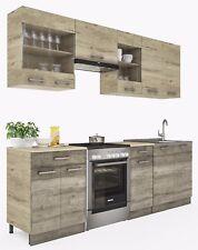 ELDORADO Martha 240 Cm Küchenzeile - Trüffel-Sonoma