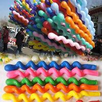 10/50/100pcs Spiral Latex Balloons Wedding Kids Birthday Party Decor Toys AA KY